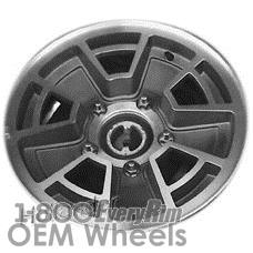Picture of Ford E150 VAN (1982-1983) 15x6 Aluminum Alloy Machined and Black 5 Spoke [01289]