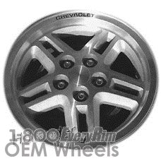 Picture of Chevrolet CELEBRITY (1984-1986) 14x6.5 Aluminum Alloy Machined with Silver 5 Double Spoke [01378]