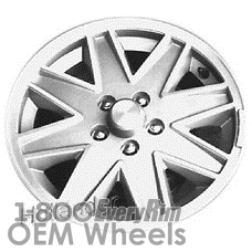 Picture of Chrysler LASER (1985-1986) 15x6 Aluminum Alloy Machined with Silver 8 Spoke [01410]
