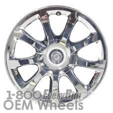 Picture of Chrysler 300 (2007-2010) 18x7.5 Aluminum Alloy Chrome Clad 9 Spoke [02278]
