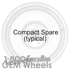 Picture of Jeep COMPASS (2007-2017) 16x4 Steel Black  Solid Disc [02349]