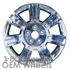 Picture of Cadillac DTS (2008-2011) 18x7.5 Aluminum Alloy Chrome Clad 7 Spoke [04644]