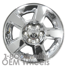 Picture of Chevrolet AVALANCHE 1500 (2009-2013) 18x8 Aluminum Alloy Chrome Clad 5 Spoke [05415]