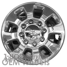 Picture of GMC SIERRA 3500 PICKUP (2015-2016) 18x8 Aluminum Alloy Polished 8 Spoke [05700]