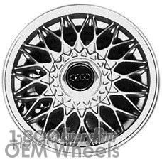 Picture of Audi 100 (1989-1991) 15x6 Aluminum Alloy Machined and Silver 0 Diamond Mesh [58667]