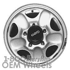 Picture of Geo TRACKER (1991-1997) 15x5.5 Steel Silver 5 Hole [60162]