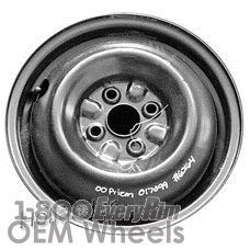 Picture of Geo PRIZM (1993-2002) 14x4 Steel Black  Solid Disc [60164]