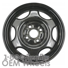 Picture of Geo PRIZM (1993-1997) 14x5.5 Steel Black 6 Spoke [60165A]