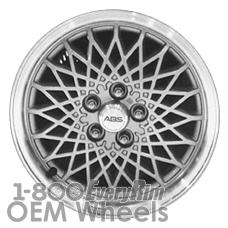 Picture of Oldsmobile ACHIEVA (1997) 15x6 Aluminum Alloy Silver with Machined Lip 0 Diamond Web [06026]
