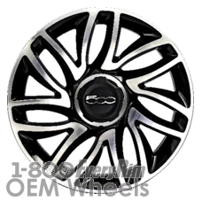 Picture of Fiat 500L (2014-2018) 17x7 Aluminum Alloy Machined with Black 7 V Spoke [61670A]