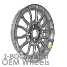 Picture of Fiat 500 (2012-2018) 15x6 Aluminum Alloy Silver 7 Split Spoke [61673]