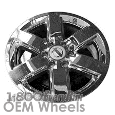 Picture of Nissan ARMADA (2009-2014) 20x8 Aluminum Alloy Chrome Clad 6 Spoke [62513]