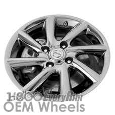 Picture of Nissan CUBE (2009-2011) 16x6 Aluminum Alloy PVD Chrome 8 Spoke [62531]