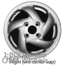 Picture of Honda ACCORD (1994-1997) 15x5.5 Aluminum Alloy Silver 5 Spoke [63962]