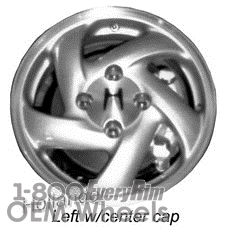 Picture of Honda ACCORD (1994-1997) 15x5.5 Aluminum Alloy Silver 5 Spoke [63963]