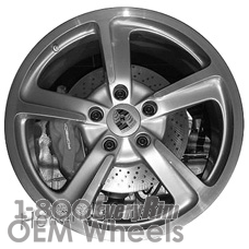 Picture of Porsche 911 (2014-2016) 20x9 Aluminum Alloy Silver 5 Spoke [67455]