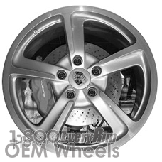 Picture of Porsche 911 (2014-2016) 20x11 Aluminum Alloy Silver 5 Spoke [67456]