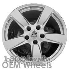 Picture of Porsche 911 (2014-2016) 20x9 Aluminum Alloy Silver with Machined Edge 5 Spoke [67457B]