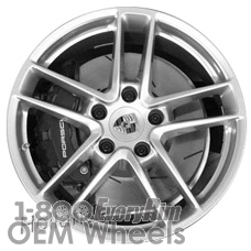 Picture of Porsche 911 (2014-2016) 19x8.5 Aluminum Alloy Silver 5 Double Spoke [67461]