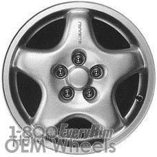 Picture of Subaru IMPREZA (1993-1997) 15x6 Aluminum Alloy Silver 5 Spoke [68693]