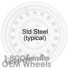 Picture of Volkswagen BEETLE (1972-1973) 15x4.5 Steel Black  [69681]