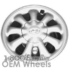 Picture of Hyundai PONY (1984-1987) 13x4.5 Aluminum Alloy Silver 9 Spoke [70658]