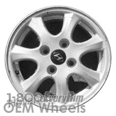 Picture of Hyundai TIBURON (2001) 15x6 Aluminum Alloy Silver 7 Spoke [70773]