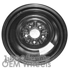 Picture of Hyundai ELANTRA (2011-2017) 15x4 Steel Black  Solid Disc [70820]