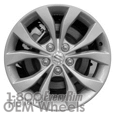 Picture of Suzuki VITARA (2013) 17x6.5 Aluminum Alloy Grey 5 Double Spoke [72721B]