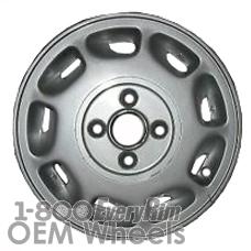 Picture of Daihatsu CHARADE (1990-1992) 13x5 Aluminum Alloy Silver 9 Slot [73138B]