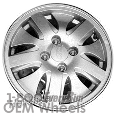 Picture of Daewoo NUBIRA (2000-2002) 14x5.5 Aluminum Alloy Silver 10 Spoke [75136]