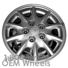 Picture of Daewoo LEGANZA (1997-2002) 15x6 Aluminum Alloy Silver 10 Spoke [75137]