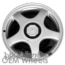 Picture of Daewoo LANOS (1998-2002) 14x5.5 Aluminum Alloy Silver 5 Spoke [75138]