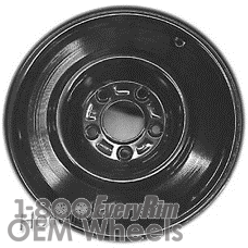 Picture of Cadillac DEVILLE (1991) 15x4 Steel Black  Solid Disc [08001]
