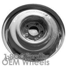 Picture of Oldsmobile CUTLASS (1993-1997) 16x4 Steel Black  Solid Disc [08020]