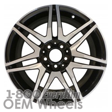 Picture of Mercedes C-CLASS (2013-2015) 18x7.5 Aluminum Alloy Machined and Black 7 Double Spoke [85269]