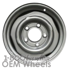 Picture of Cadillac BROUGHAM (1987-1990) 15x6 Steel Black  Plain Disc [00937B]