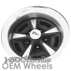 Picture of Pontiac LeMANS (1973-1977) 15x7 Steel Silver 5 Spoke [00966]