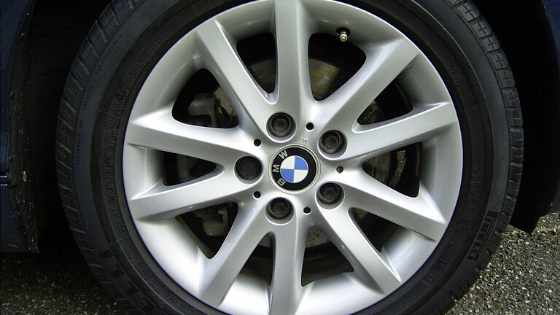 BMW OE rim mounted with tire