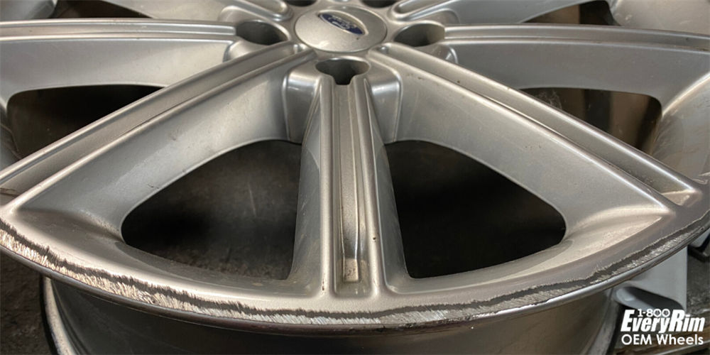 Curb rash on a wheel
