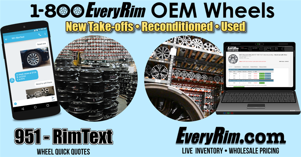 1-800EveryRim OEM Wheels gives you EveryRim and RimText