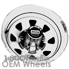 Picture of Jeep CHEROKEE (1977-1983) 15x8 Steel Chrome 8 Spoke [01079]