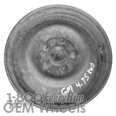 Picture of GMC SONOMA (1984-1988) 15x4 Steel Black  Solid Disc [01109]