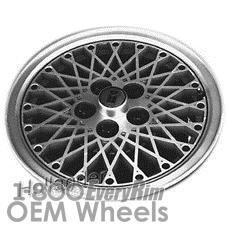 Picture of Oldsmobile CIERA (1984-1988) 14x6 Aluminum Alloy Black  Diamond Spoke [01381]