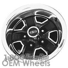 Picture of Oldsmobile CIERA (1984-1989) 14x5.5 Steel Black 5 Spoke [01382]
