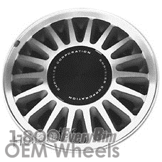 Picture of Chrysler LE BARON (1985) 14x5.5 Aluminum Alloy Machined with Grey 18 Spoke [01411]