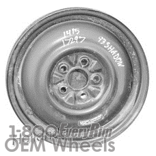 Picture of Plymouth ACCLAIM (1989-1995) 14x4 Steel Black  Solid Disc [01415]