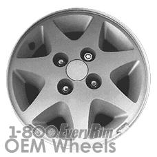 Picture of Ford ESCORT (1988) 14x6 Aluminum Alloy Silver 7 Spoke [01594]
