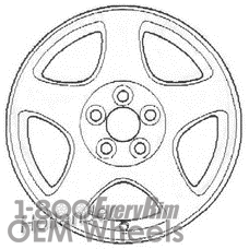 Picture of Lincoln LS (2001-2002) 16x7 Aluminum Alloy Black 5 Spoke [03442B]