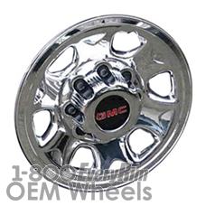 Picture of Chevrolet SILVERADO 3500 PICKUP (2006-2010) 16x7 Steel Chrome Clad 6 Spoke [05266]